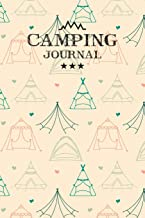 Camping Journal: Travel Camping Journal RV Trailer Campsites Campgrounds Logbook Record Your Family Kids Adventures Log Book Road Trip Planner Tracker ... Camper Journey Prompts for Writing, Gift Idea