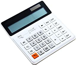$52 » Yusuo 12-Digit Desktop Calculator, 1 Large Display Battery LCD Display Office Calculator