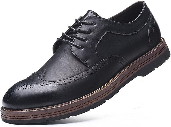 Fgmjgk Les Chaussures en Cuir, Anglais gravé des Chaussures D'hommes, Les Affaires de Chaussures,noir,Quarante - et - Un