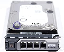 400-AFYB - DELL 1TB 7.2K SATA 3.5in 6Gbps HARD DRIVE W/KG1CH TRAY 13th GENERATION Compatible with PowerEdge R430 T430 SERVERS (Renewed)