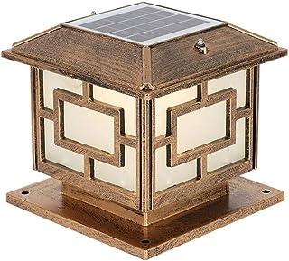SEESEE.U Column Head Lamp Outdoor Solar Fence Gate Gate Pillar Yard Wall Lamp Outdoor Waterproof European Style Garden Vil...