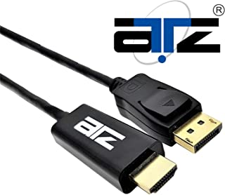 ATZ DISPLAYPORT v1.2 TO HDMI 4K w/GOLD PLATED CABLE (2M)