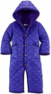 Polo Baby Girls Quilted Bunting Snowsuit Vibrant Purple