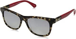 Kate Spade Women's Charmine/s Rectangular Sunglasses, Havana RED, 53 mm
