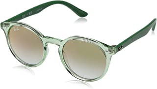 RAY-BAN JUNIOR RJ9064S Round Kids Sunglasses, Transparent...