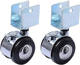 Zwenkwielen, Caster Wheels Set van 4 Casters 4 stks 2 Inch Wieg Casters Kastklem met remwielen Nylon Meubels Hardware Fitt...