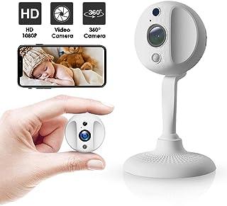 Cámara de Seguridad Mini cámara espía 1080P WiFi inalámbrico Cámara Oculta Cámara para Mascotas Inalámbrico Interior con detección de Movimiento Audio bidireccional visión Nocturna