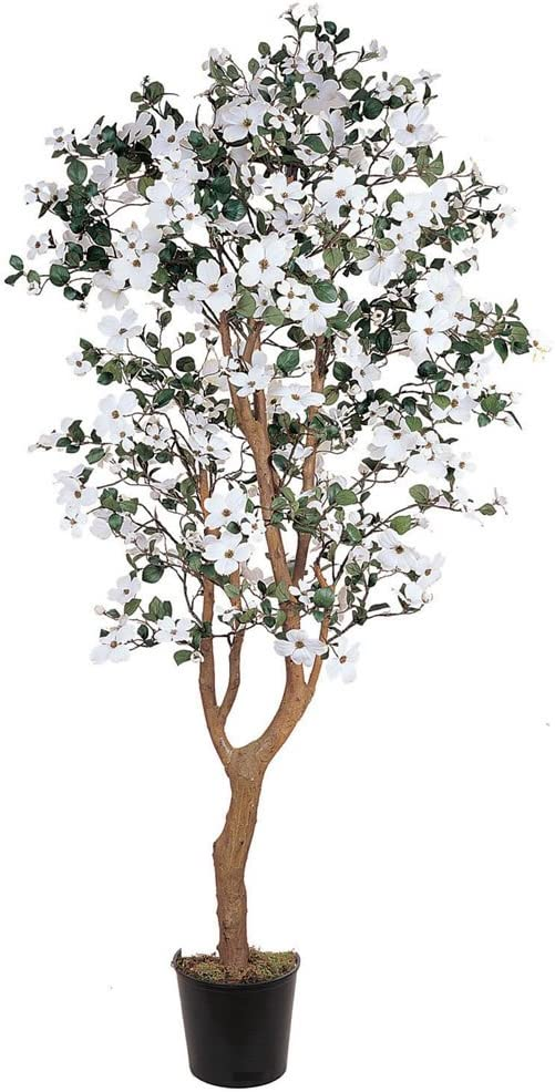 Nearly Natural 5019 2021 new 5ft. Dogwood Silk White 9