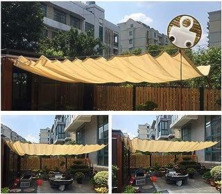 PENGFEI Retráctil Techo Ola Pabellón, Filtrado De Luz Protector Solar para Jardín, Patio, Terraza, Tamaño Personalizado (Color : Beige, Size : 1x2M)