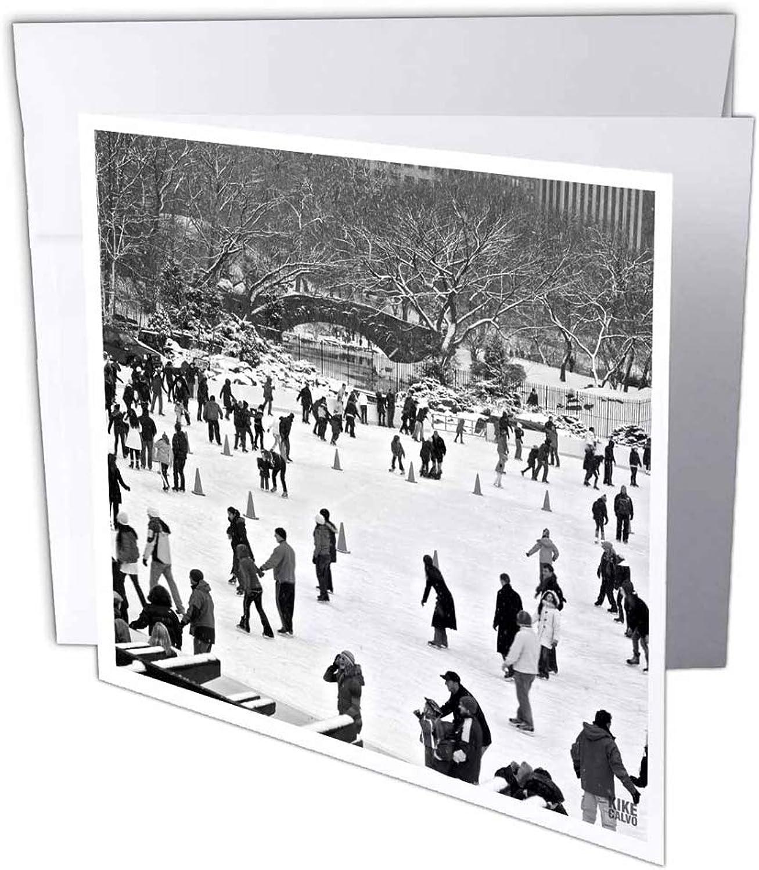 3dRosa gc_10291_1 Grußkarte Snow Blizzard in Central Park Manhattan New York City Ice Skate Ring , 15,2 x 15,2 cm, 6 Stück B07BJCDQG8 | Neue Sorten werden eingeführt