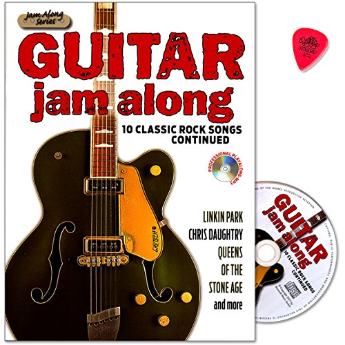 Guitar Jam Along III - 10 Classic Rock Songs Continued - Songs met riffs, Soli, begeleidende stempel, tabulatuur, teksten - Notenboek met CD en Dunlop Plek - Verlag Bosworth Music - BOE7868 - 9783865439703