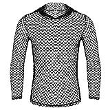 MSemis Camiseta Sexy Transparente para Hombres Chaleco de Malla Camisa de Músculo con Capucha Sudadera Fishnet Slim Fitness Clubwear Talla M-2XL Negro con Capucha Medium