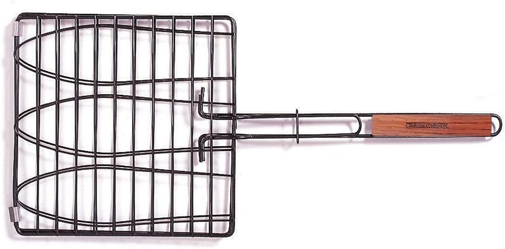 Charcoal Companion SS 100 40 Triple Fish Grilling Basket 11 By 11 Inches Barbecue Fish Easily