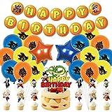 FANDE Dragon Ball Globos Decoración de Fiesta,Decoraciones de Fiesta de Cumpleaños Para Niños, Globo...