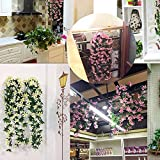 YSoutstripdu 2 Ramos De Flores Colgantes De Orquídeas Artificiales De Lirios para La Fiesta De Boda Decoración Festiva De Vacaciones Rosa roja