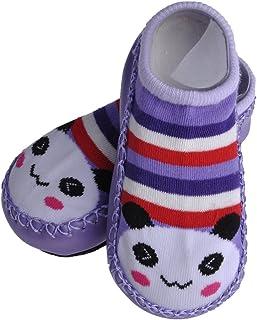 VANKER, Calcetines de piel para bebé, diseño de animal, algodón, sin mangas, suela plana, calcetines de piel