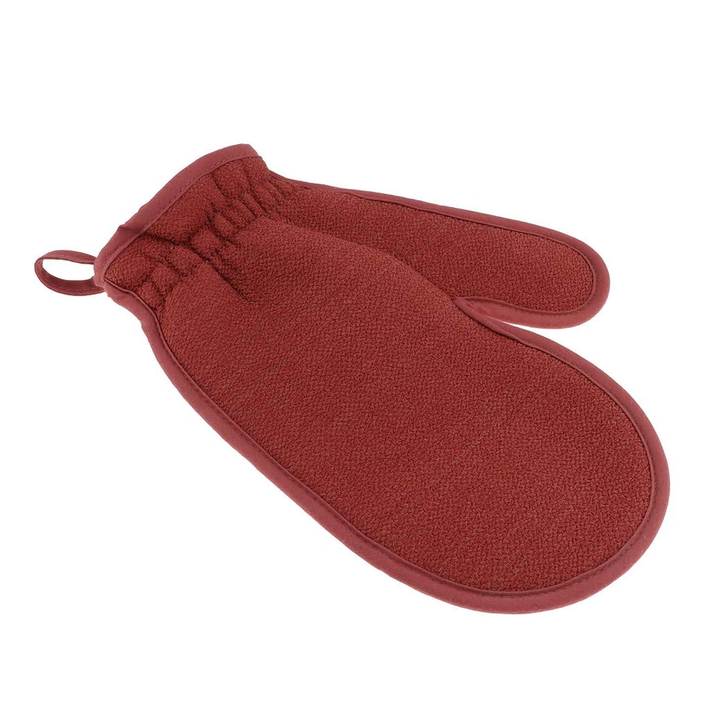 非常に継承フィヨルドFenteer 浴用手袋 ボディタオル バスミット 垢すり用グローブ 両面 角質除去 男女兼用 旅行 家