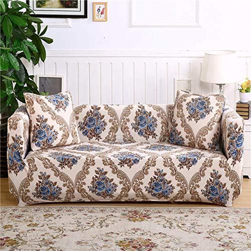 WEDZB Sofa hoes,Hoes bloemenbank hoes Geschikt voor vier seizoenen voor woonkamer meubelen beschermer elastische bank hoes, kleur 12,2, zit 145,185cm