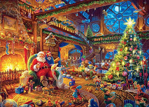 1000 Pieces Wooden Jigsaw Puzzles,Beautiful Christmas Puzzle – Every Piece is Unique, Softclick Technology Means Pieces Fit Together Perfectly