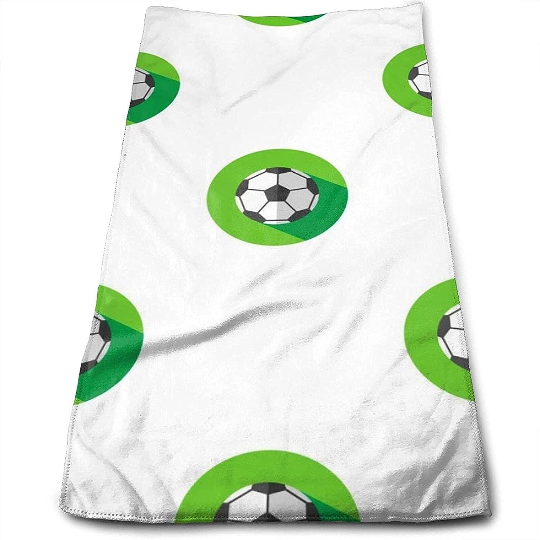 Epushow Green Stadium Football Icon Plane Pattern Handkerchief Kitchen Bathroom Handkerchief Soft Polyester Microfiber
