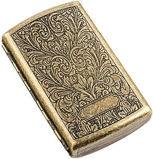 YZY Cigarette Case, Cigarette Case 12 Sticks Mini Portable Simple Retro Cigarette Holder, Personality Creative Men And Women Stainless Steel Smoking (Color : Bronze)
