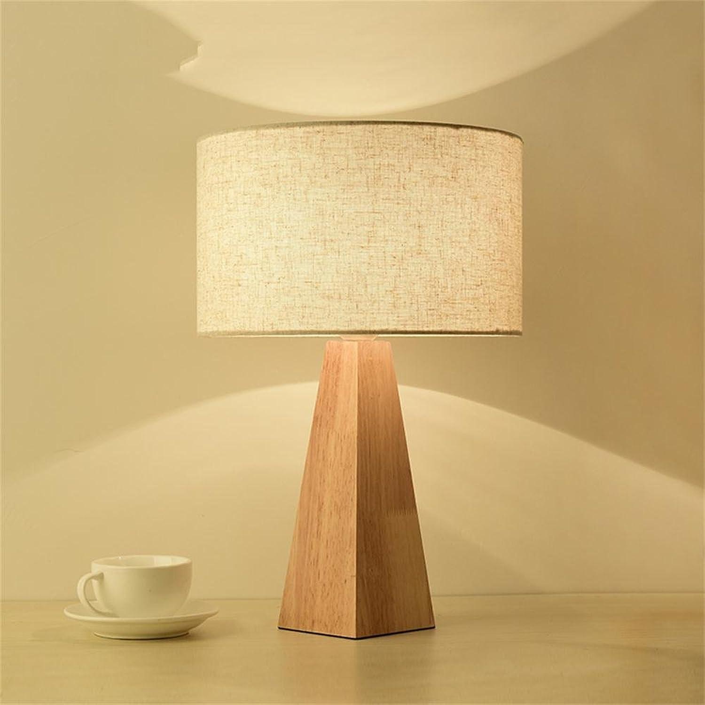 GJ- Warme Schlafzimmer Nachttischlampen Studie Massivholz Lampen Einfache Europäische Kreative Holz Tischlampe (Farbe   Weiß) B078LYDSPB | Fein Verarbeitet