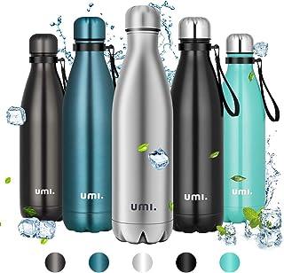 Umi. by Amazon - Botella Agua Acero Inoxidable, Termo 750ml, Sin BPA, Islamiento de Vacío de Doble Pared, Botellas Frío/Caliente, Reutilizable para Niños, Colegio, Sport, Gimnasio, Bicicleta