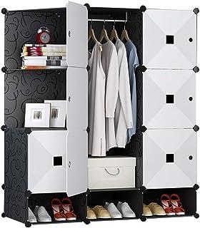 Armoire simple moderne et économique en imitation bois avec porte coulissante pour chambre à coucher