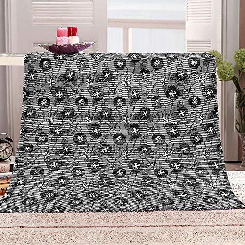 ZFSZSD Wohndecke Graues Muster Kuscheldecke Sofadecke Felldecke Decke Tagesdecke Lammfelldecke 180x200cm