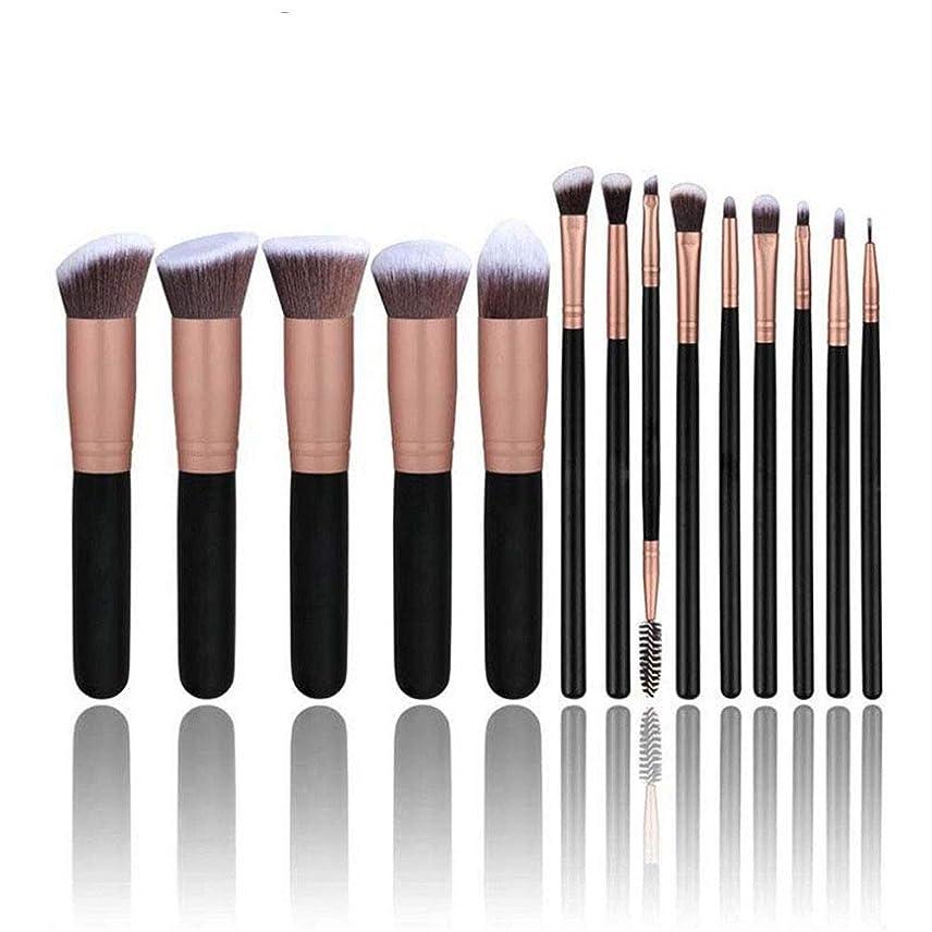ブレイズグレード王位14ピース化粧ブラシセット、化粧品ファンデーションブレンド赤面ツールアイシャドウセット美容合成コンシーラー高品質