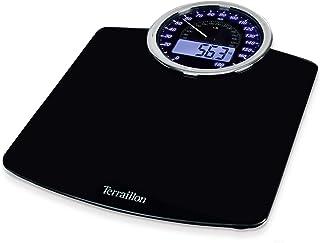 Terraillon GP3000-13737 Báscula personal electrónica Rectángulo Negro - Báscula de baño (Báscula personal electrónica, 180 kg, kg, Rectángulo, Negro, LCD)