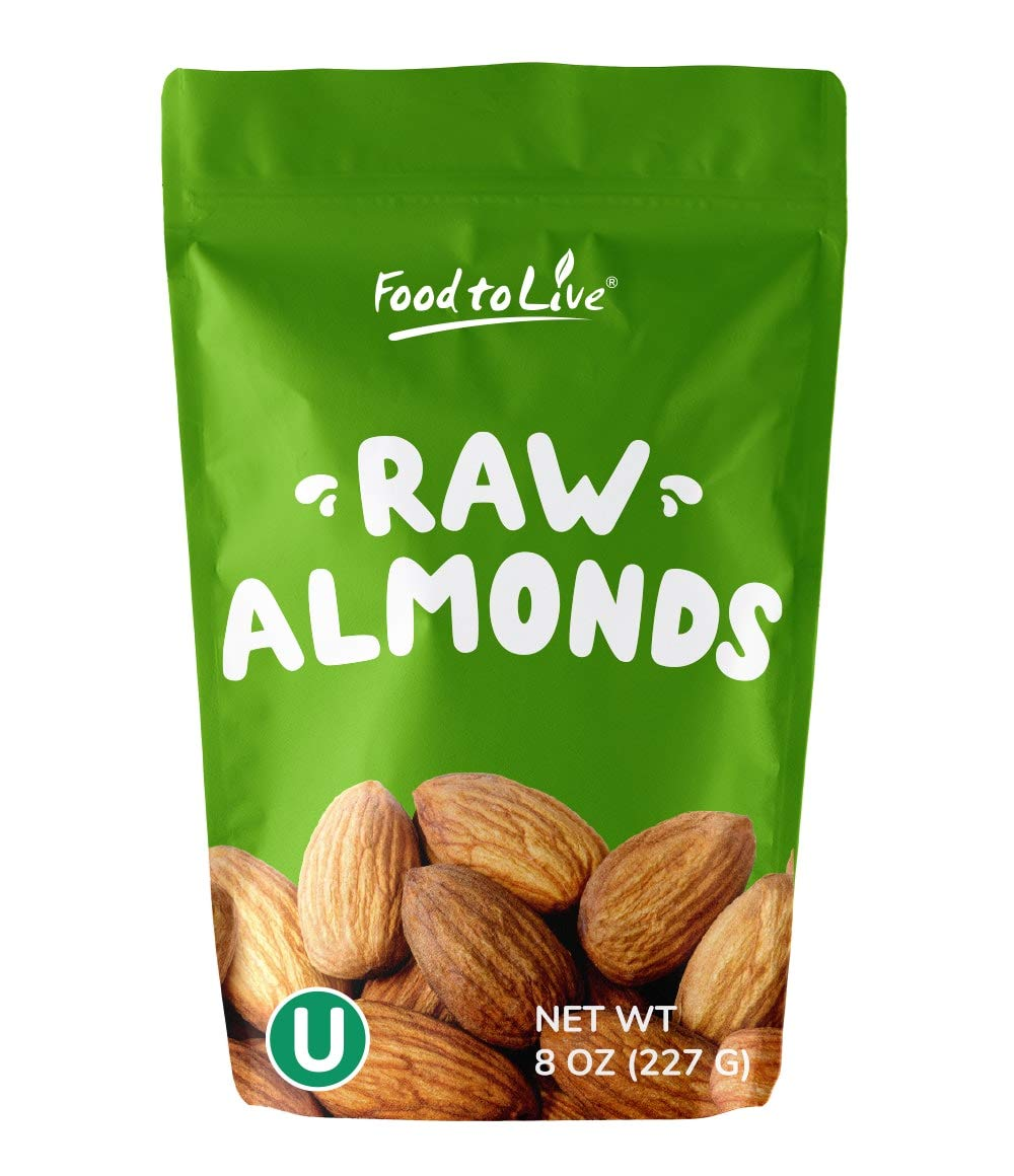 California Almonds, 8 Ounces – Supreme, Whole, Raw, Unsalted, Unroasted Nuts, Natural. Kosher, Vegan. Keto, Paleo, Low Sodium, Bulk. Great for Making Butter, Milk and Flour