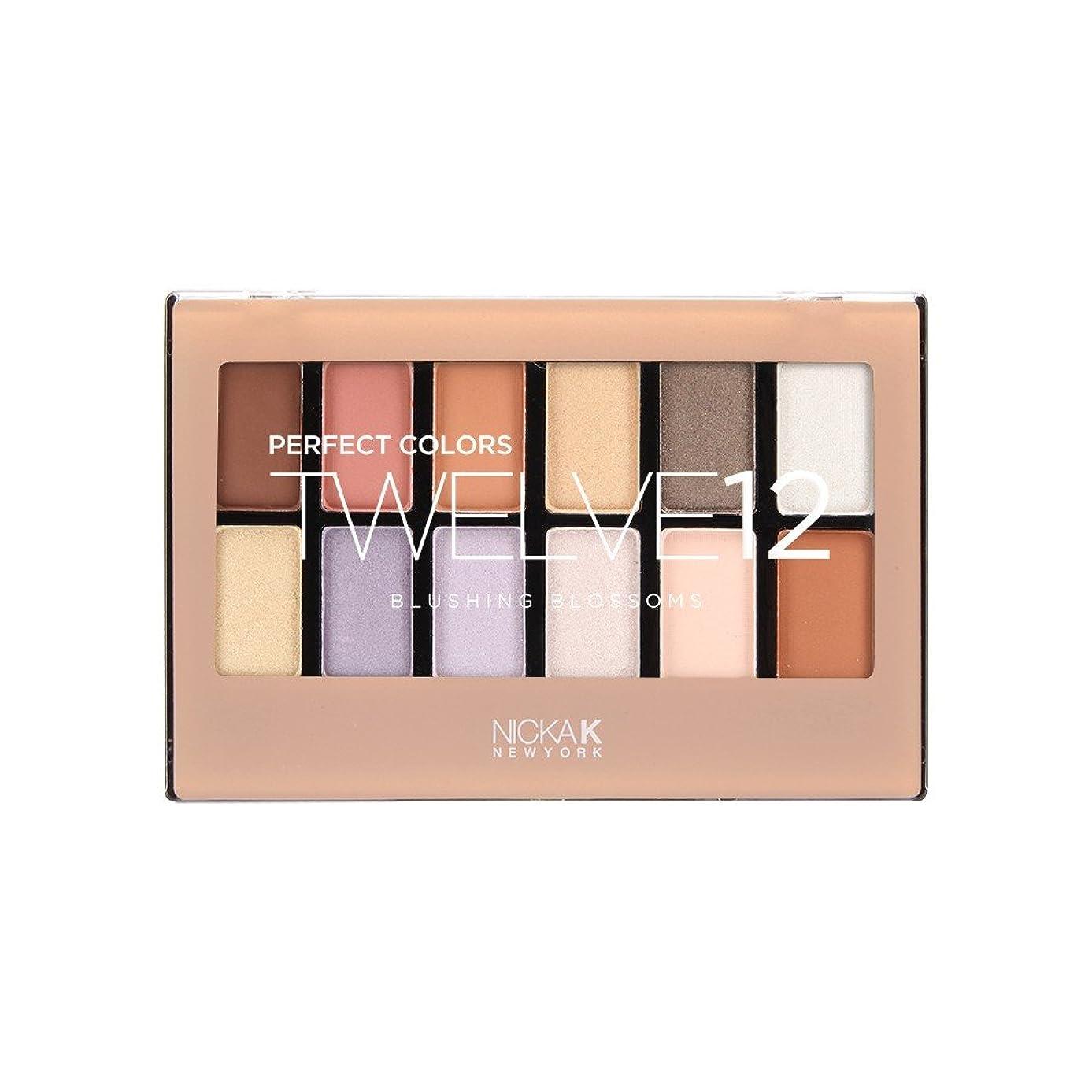 残酷なチャート軌道(3 Pack) NICKA K Perfect 12 Blushing Blossoms Eyeshadow Palette (並行輸入品)