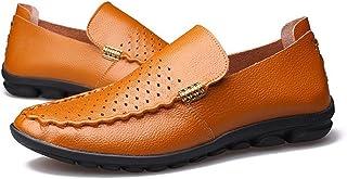 [QIFENGDIANZI] ドライビングシューズ メンズ 3色 24.0cm-27.0cm おしゃれ 紳士靴 スリッポン 快適 ソフト コンフォート ブラウン イエロー ブラック