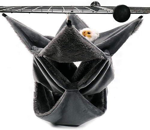 LeerKing Hamac Rongeur Hamster Lit Suspendu Couchage Furet Nid Confortable avec 3 Couches de Labyrinthe Géométrique p...