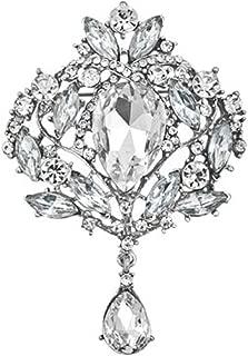 JewelryHouse Gorgeous Austrian Imitation Crystal Rhinestone Wedding Brooch Pin