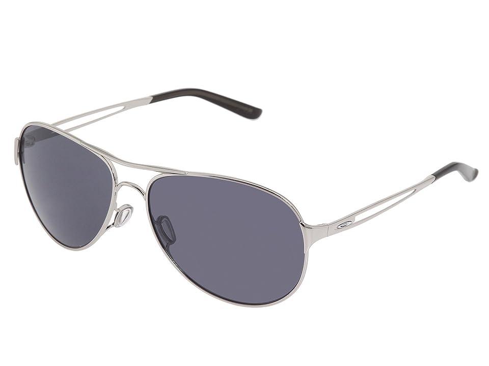 Oakley Caveat (Polished Chrome/Grey Lens) Sport Sunglasses, Gray