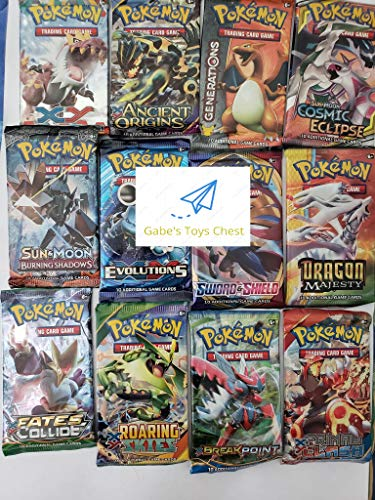 Pokemon TCG: 4 Booster Packs – 40 Cards Total| Value Pack Includes 4 Booster Packs of Random Cards | 100% Authentic Branded Pokemon Expansion Packs