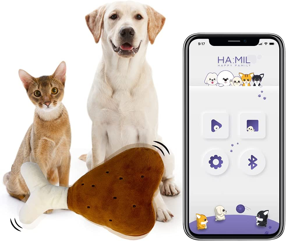 Courier shipping free HAMILPET Smart Luxury goods Bluetooth Electric Cat Kick Moving Chicken