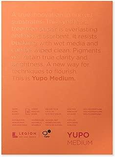 Legion Yupo Polypropylene Pad, 5 X 7 inches, Medium 74lb, 10 Sheets (L21-YUP197WH57)