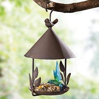 YUOKI99 - Pajarera para Colgar – Pajarera de Metal comedero para pájaros Ideal para balcón y jardín pajarera casa para páj...
