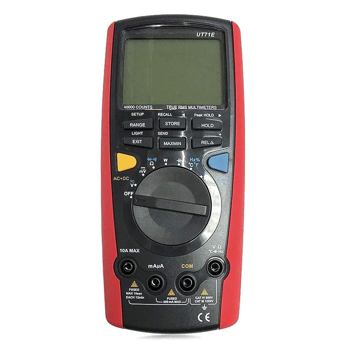 TDHHY デジタルマルティメーター デジタルマルティメーター USB Bluetooth コミュニケーション (Color : レッド, Size : UT71B)