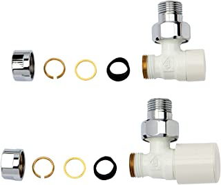 GAMMA GIRARDI Kit para instalación radiador toallero bitubo Blanco