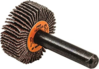 3//4 Face Width Pack of 10 3//4 Dia. 35000 Max RPM Round Shank Merit Micro Mini Grind-O-Flex Abrasive Flap Wheel Aluminum Oxide Grit 80