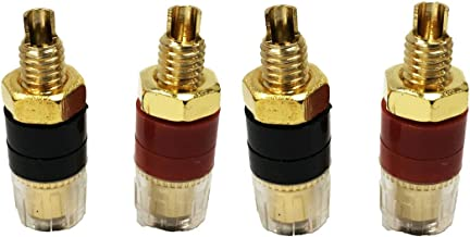 INCREWAY 5mm X 25mm Copper Plated Binding Chicago Screw Posts Barrel Nuts Docking Rivets Brass Tone 30pcs