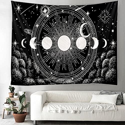 KHKJ MoonTransform Indian Mandala Tapestry Wall Hanging BohoDecor Macrame Hippie Witchcraft A13 95x73cm