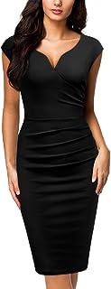 Miusol Women's Vintage Slim Style Sleeveless Business Pencil Dress