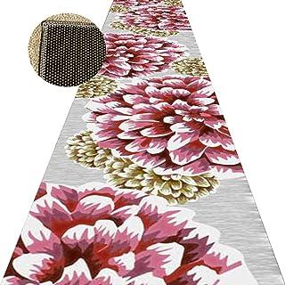 Non-Slip Carpet YANZHEN Hallway Runner Runner Rugs Non-Slip Washable Flower Pattern Living Room Extra Long Entrance Blende...