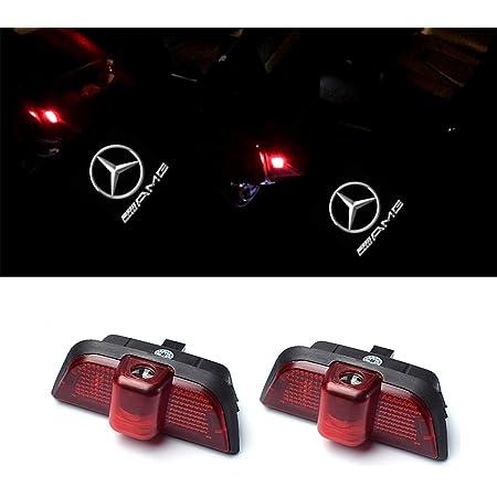 Ztmyzfsl 2 Stücke Auto Logo Projektion Projektor Tür Geister Shadow Light Willkommen Lampe Licht For Blue W204 Auto