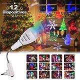 Projecteur de Noël, LED Lampe Projecteur de Noel avec 12...